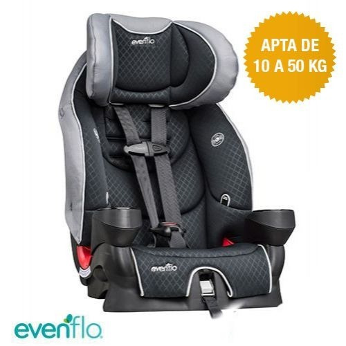 elevadora booster evenflo secure kid latch alturas 10 -50 kg