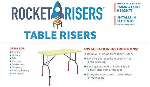 elevadores de mesa rocket risers hacen que su mesa plegable