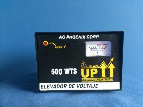 elevadores de voltaje de 110 volts, a 220 volts, 500 wts