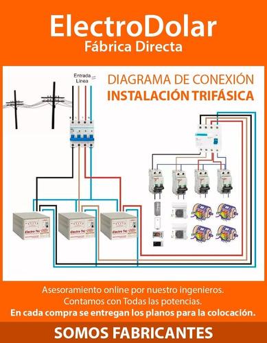 elevadores tensión para trifasica automático 48 kva (r 160v)