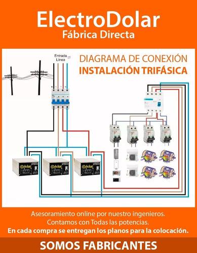 elevadores tensión trifásica automático dolar 12kva (r 140v)