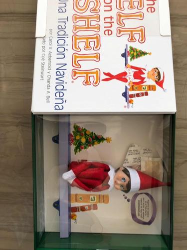elf on the shelf original con libro en español (niño )