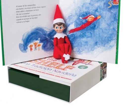 elf on the shelf original con libro en español (niño)