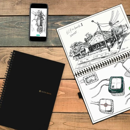 elfinbook 2.0 inteligente reutilizable borrable cuaderno nub