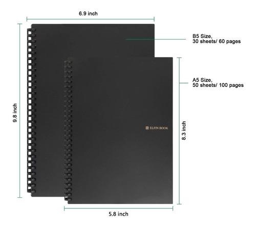 elfinbook 2.0 reutilizable cuaderno espiral con espiral de m