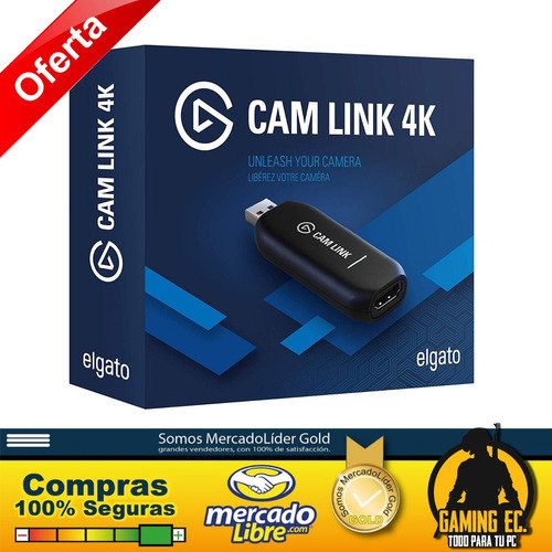 elgato cam link 4k 1080p60 usb 3.0 hdmi capturadora de video
