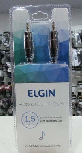 elgin cabo áudio estéreo 3.5mm p2-p2 1,5m
