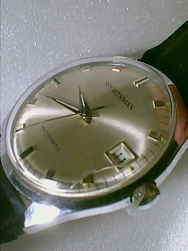 elgin sportsman automatic data 35mm de pulso-coleção