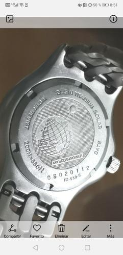 elgin titanio buzo 200m perlla enroscable solar 2 tacometros