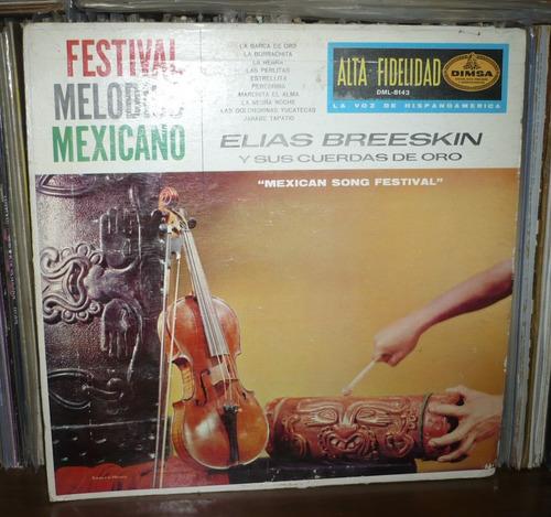 elias breeskin lp festival melodico mexicano