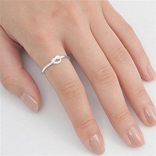 elige tu color anillo de nudo de plata esterlina
