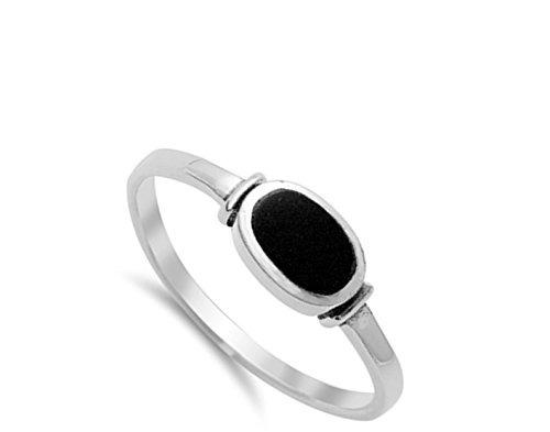 elija su color anillo ovalado de plata esterlina