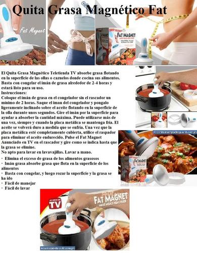elimina la grasa de tus comidas con fat magnet menos caloria