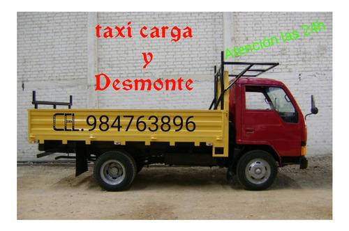 eliminacion de desmonte limpieza general taxi carga mudanzas