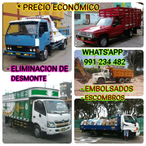 eliminación de desmonte malezas taxi carga economico 24h