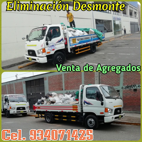 eliminacion de desmonte recojo desmonte, taxi carga