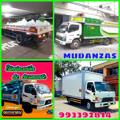 eliminación de desmonte y recojo maleza taxi carga y mudanza