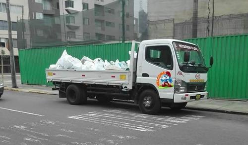 eliminación desmonte ; taxi carga & mudanza económico
