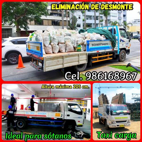 eliminación desmonte // taxi carga & mudanzas económico 7dia