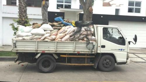 eliminación desmonte; taxi carga y/o mudanza económico