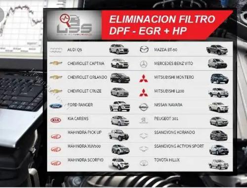 eliminación filtro dpf y egr físico y desde la ecu