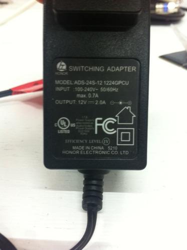 eliminador 12v 2a (adaptador o cargador)