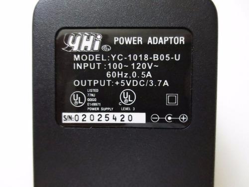 eliminador de corriente ac 5 v 3.7 a. conector de 6 mm