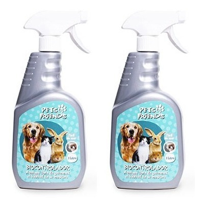 eliminador de olores y desinfectante hábitat gatos perro 2u.