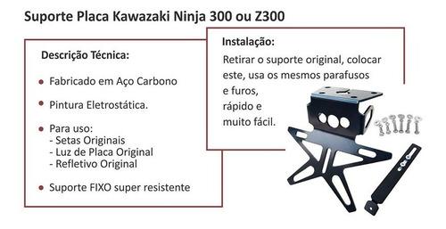 eliminador de rabeta fixo kawasaki ninja 300 ou z300