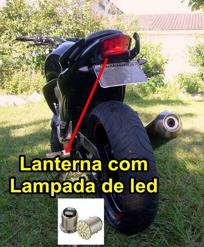 eliminador paralama rabeta placa cb300 com lampada de led