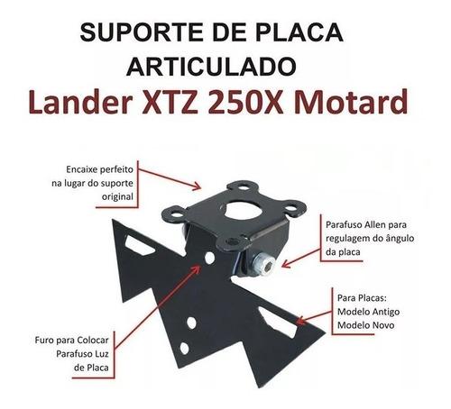 eliminador rabeta articulado com luz lander x xtz 250 motard