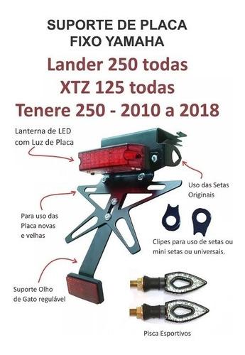 eliminador rabeta lander 250 xtz 125 + lanterna led + piscas