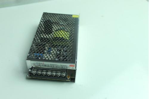 eliminador transformador fuente poder 12v 10a 120w tiras led