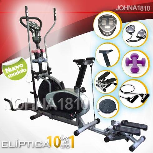eliptica 10 en1 escalador twister silla radio pesas ligas