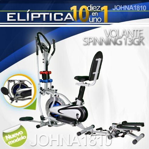 eliptica 10 en1 ultimo modelo con volante de spinning de13kg