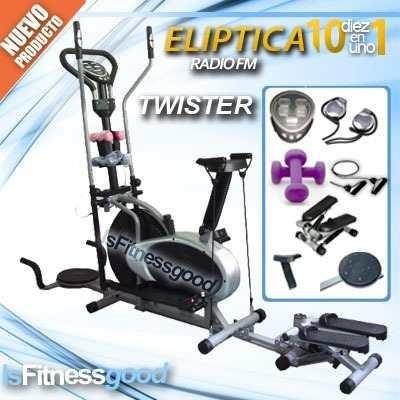 eliptica 10en1 escalador twister silla radio fm ligas pesas