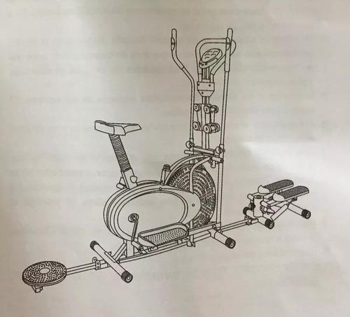 eliptica 10en1 escalador twister silla radio pesas ligas