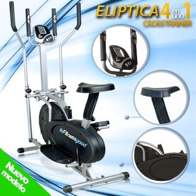 eliptica 4en1 monitor 5 funciones  bicicleta nuevo modelo