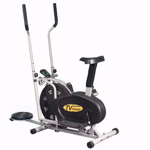 eliptica con asiento y twister  tv fitness
