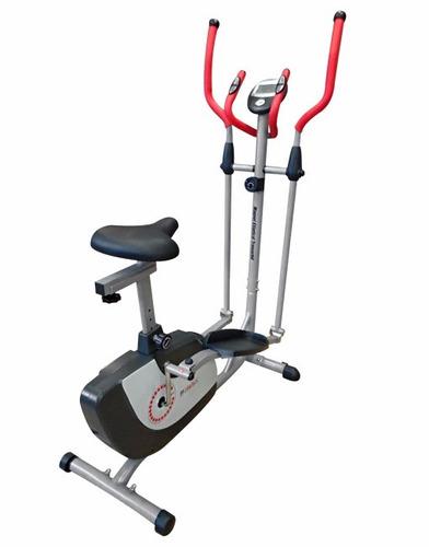 elíptico con asiento y hand p randers + pelota fitness 75cms