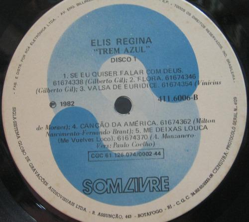 elis regina lp disco vinil duplo trem azul