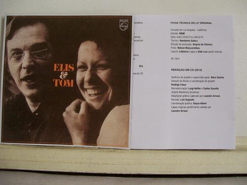elis & tom,1974, cd original