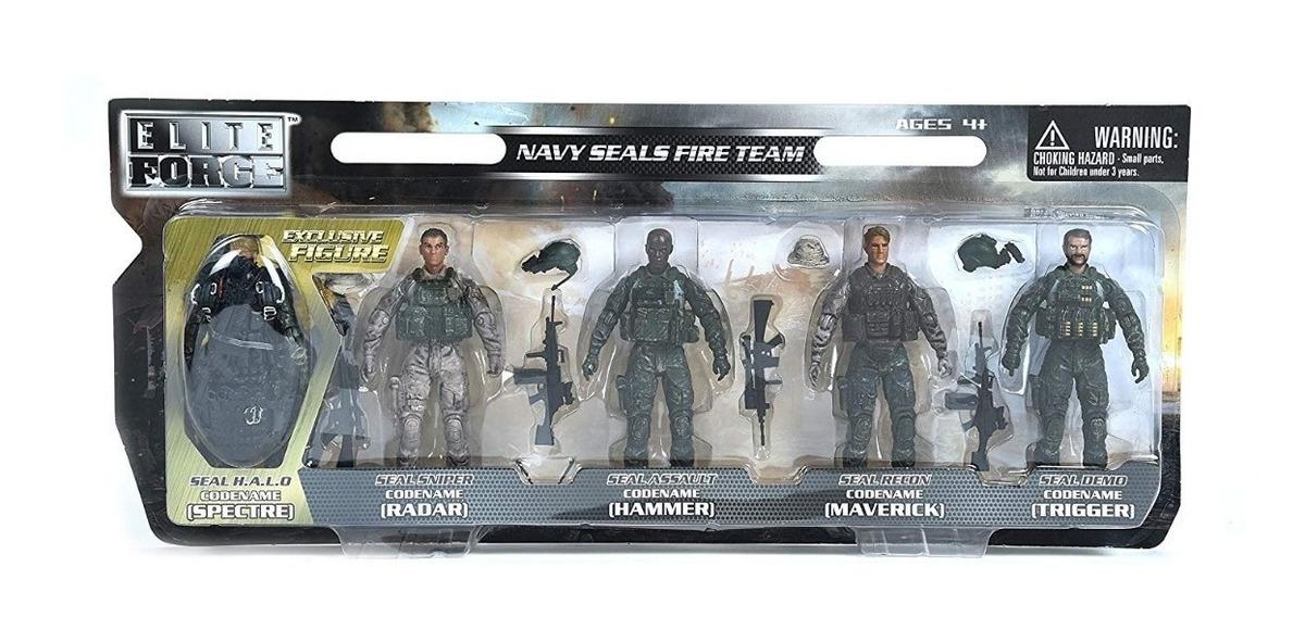 Elite Force Navy Seals Action Figure 5-pack With Bonus Halo