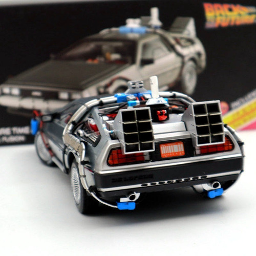 elite hot wheels: delorean / regreso al futuro / escala 1:18