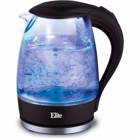 elite® platinum® cafetera eléctrica cristal 1.7 lt - luz led