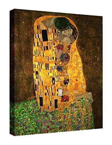eliteart-the kiss de gustav klimt giclee art canvas prints d