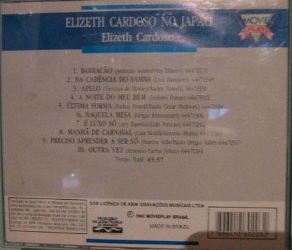 elizeth cardoso - live in japan - 1977 - cd usado