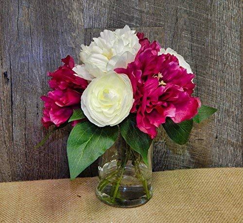 Ella and lulu silk flower one size cream fuschia 368500 en ella and lulu silk flower one size cream fuschia mightylinksfo