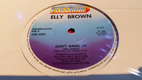 elly brown don't hang up vinilo maxi italo disco impecable