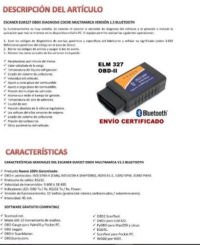 elm327 bluetooth obd2 escaner automotriz  v2.1 original